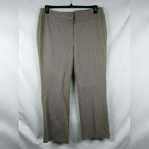 Alfani Wide Leg Mid-Rise Work Pants Tan Plus Sz